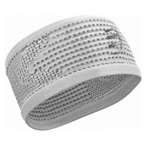 Compressport HEADBAND ON/OFF white - Light sports headband