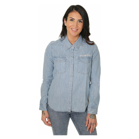 shirt Roxy Save Me LS - BFFW/Light Blue