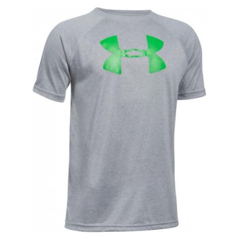 Under Armour AU TECH BIG LOGO SS gray - Boys' T-shirt