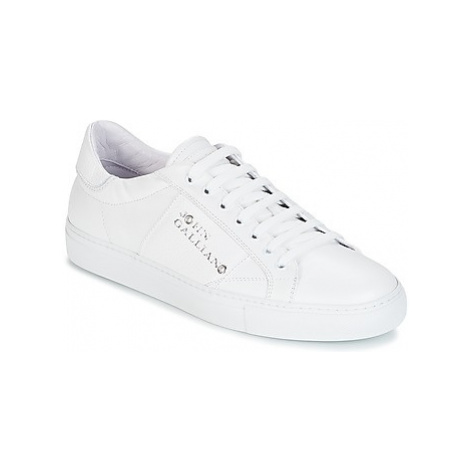 John Galliano 4752 men's Shoes (Trainers) in White