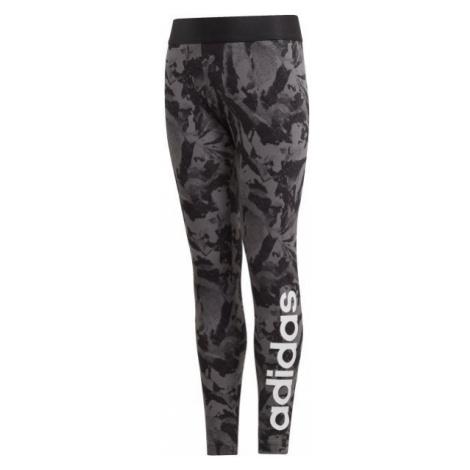 adidas YG E AOP TIGHT black - Girls' sports tights