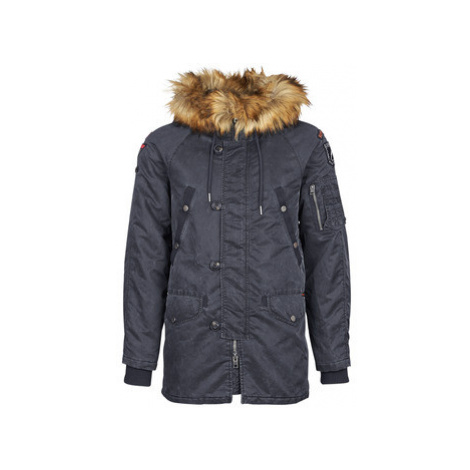 Superdry COMMANDO HEAVY PARKA men's Parka in Blue