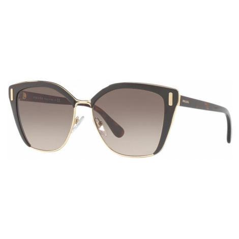 Prada Woman PR 56TS - Frame color: Brown, Lens color: Grey-Black, Size 57-16/140