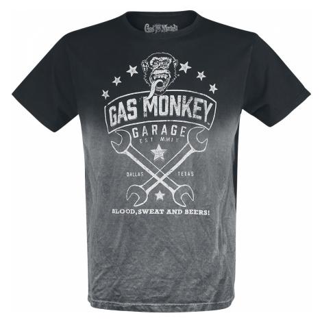 Gas Monkey Garage - Wrench Logo - T-Shirt - grey-black
