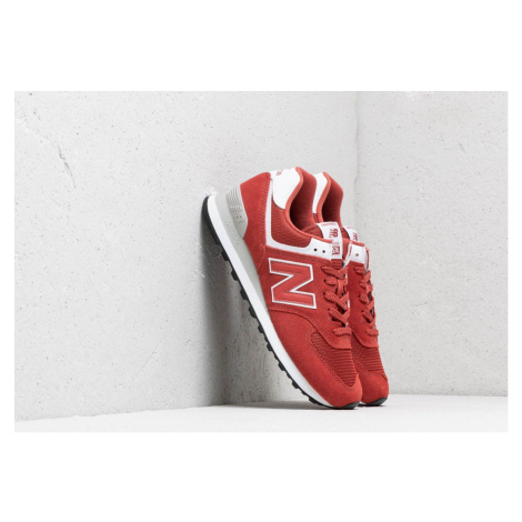 New Balance 574 Red/ White