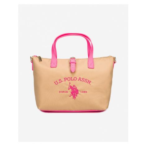 U.S. Polo Assn Patterson Fluo Handbag Pink Beige