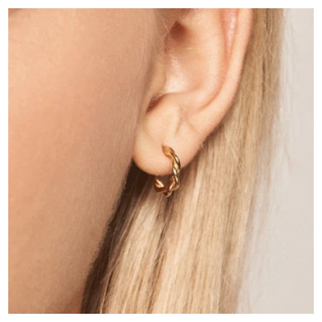 P D PAOLA Gold Plated Rodeo Hoop Earrings