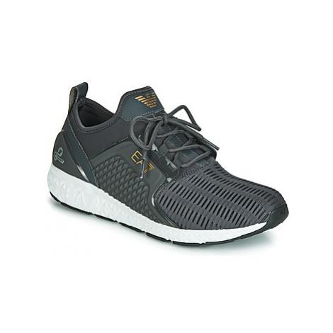 Emporio Armani EA7 SPIRIT C2 PREMIUM U men's Shoes (Trainers) in Grey