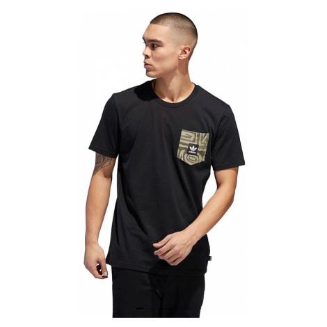 T-Shirt adidas Originals Dakari Pocket - Black/Raw Khaki/Night Cargo/White - men´s