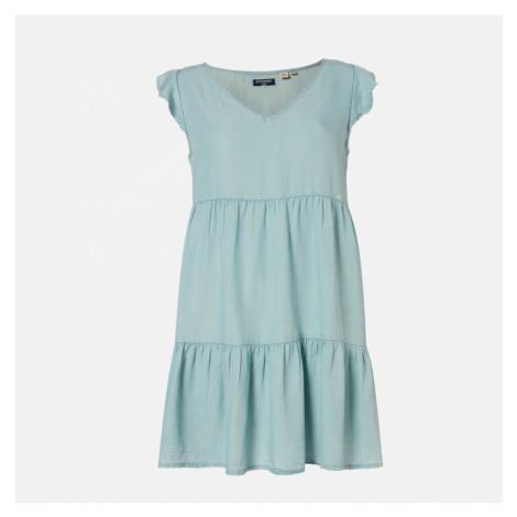 Superdry Women's Tinsley Tiered Dress - Indigo Light