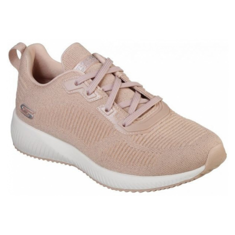 Skechers BOBS SQUAD TOTAL GLAM light pink - Women's low-top sneakers