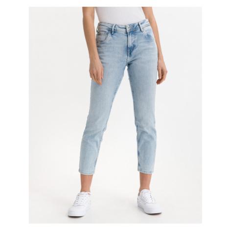 Blue women's straight jeans