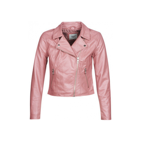 JDY JDYESMA women's Leather jacket in Pink