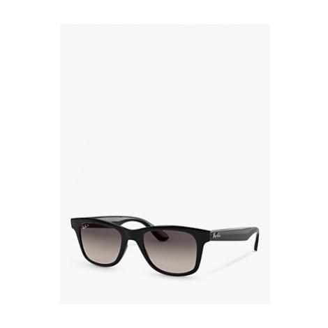 Ray-Ban RB4640 Unisex Polarised Square Sunglasses, Black/Grey Gradient