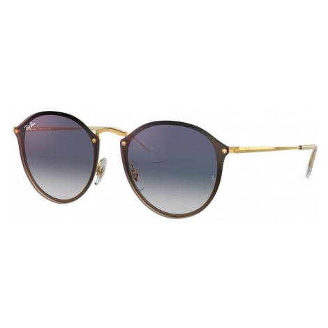 Ray Ban Unisex RB3574N BLAZE ROUND - Frame color: Gold, Lens color: Blue Gradient Mirror, Size 5