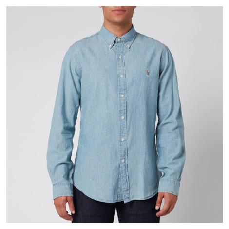Polo Ralph Lauren Men's Slim Fit Chambray Shirt - Medium Wash