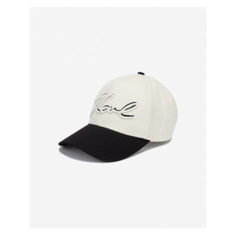 Karl Lagerfeld New Signature Cap Black Beige