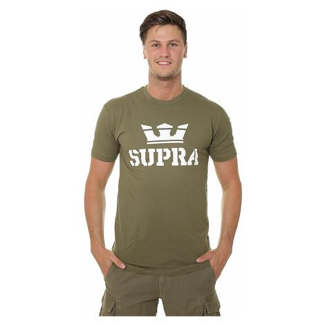 T-Shirt Supra Above - Olive/White