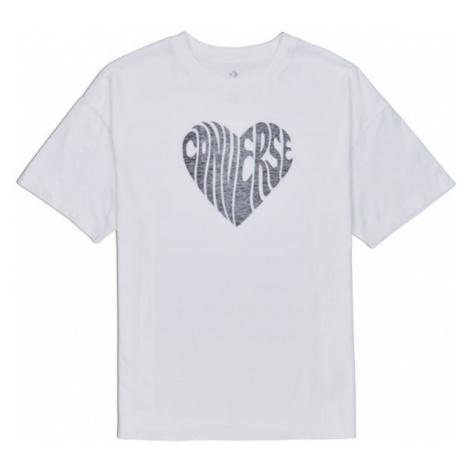 Converse WOMENS HEART REVERSE PRINT TEE white - Women's T-shirt