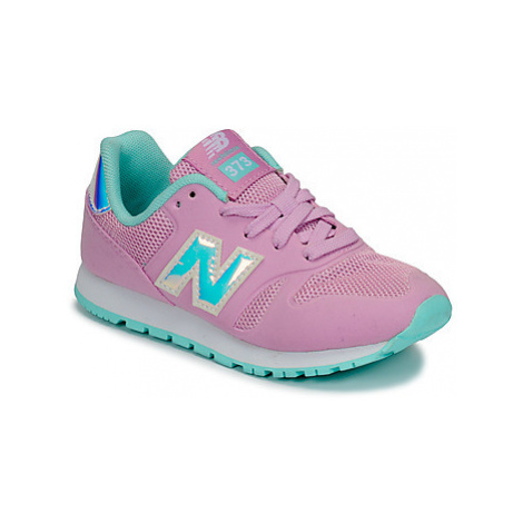 New Balance YR373 girls's Children's Shoes (Trainers) in Pink