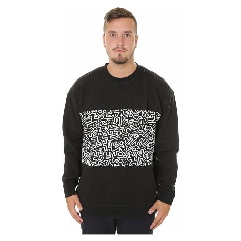 sweatshirt Element Keith Haring Panel Crew - Flint Black - men´s