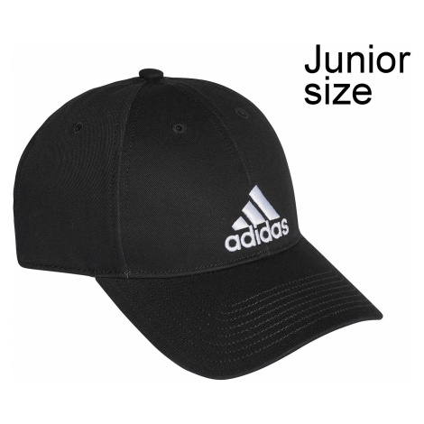 cap adidas Performance 6 Panel Cotton Twill - Black/Black/White - unisex junior