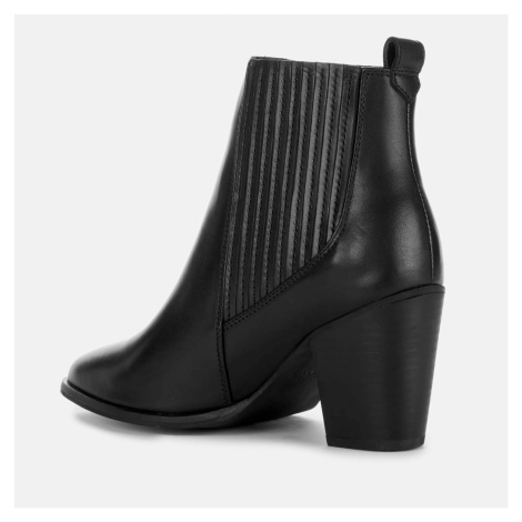 Clarks Women's West Lo Leather Heeled Ankle Boots - Black - UK