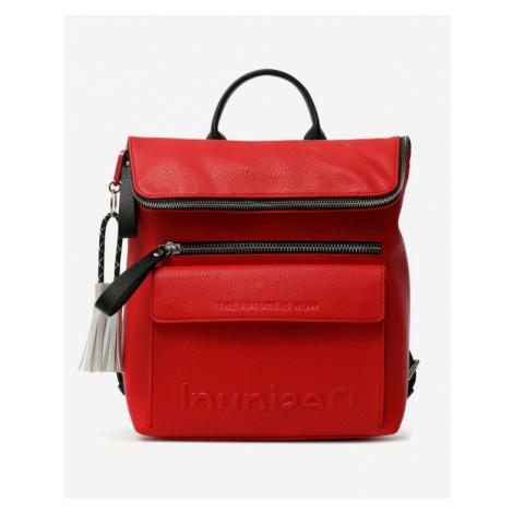 Desigual Embossed Half Logo Backpack Red