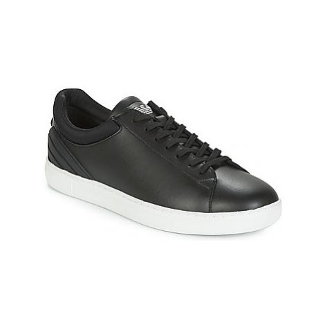 Emporio Armani NELLO men's Shoes (Trainers) in Black