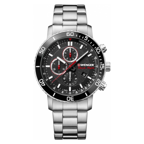 Wenger Watch Roadster Black Night Chrono Mens