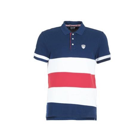 Emporio Armani EA7 SEA WORLD ST TROPEZ 3ZPF57 men's Polo shirt in Blue