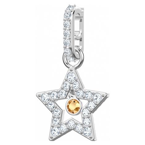 Swarovski Remix Collection Star Charm, White, Rhodium plated