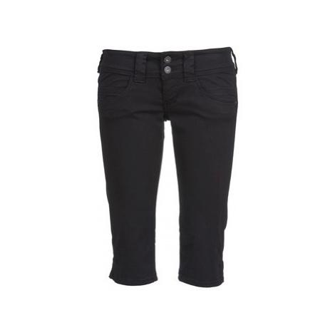 Pepe jeans VENUS CROP women's Cropped trousers in Black