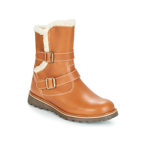 Citrouille et Compagnie JOBI girls's Children's Mid Boots in Brown