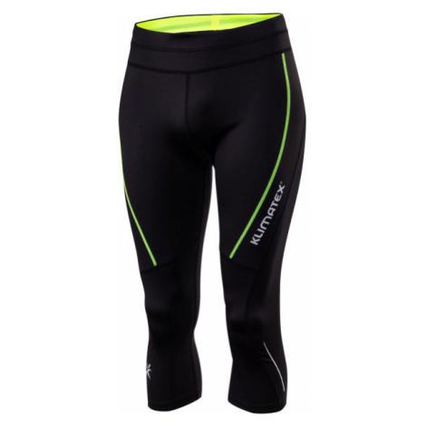 Klimatex TIRNO black - Men's 3/4 length running leggings