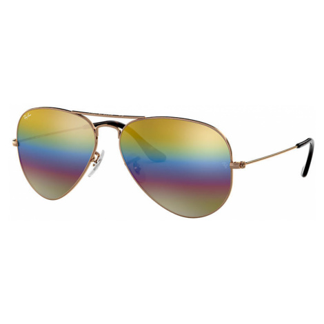 Ray-Ban Aviator mineral flash lenses Man Sunglasses Lenses: Yellow, Frame: Bronze-copper - RB302