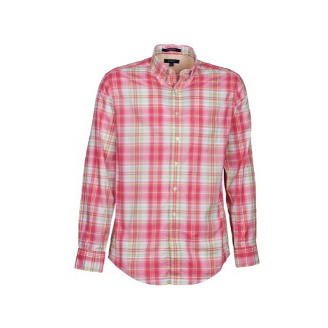 Gant 30753 men's Long sleeved Shirt in Pink