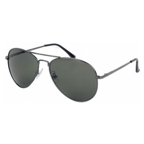 Shiny Gun Aviators Sunglasses anthracite