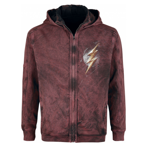 The Flash - Lightning - Hooded zip - red