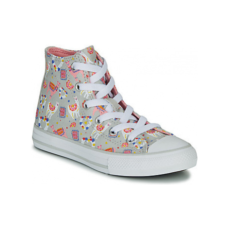 Converse CHUCK TAYLOR ALL STAR LLAMA HI girls's Children's Shoes (High-top Trainers) in Grey