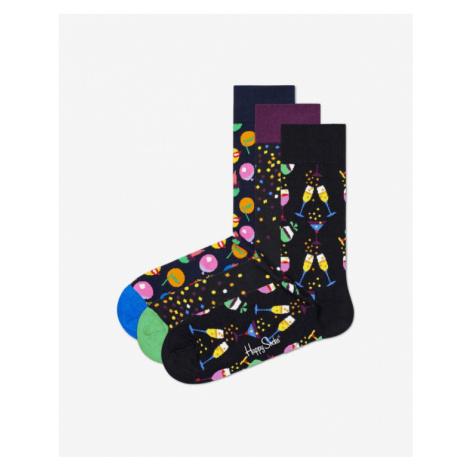 Happy Socks Celebration Set of 3 pairs of socks Black Colorful