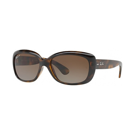Ray-Ban RB4101 Polarised Jackie Ohh Rectangular Sunglasses