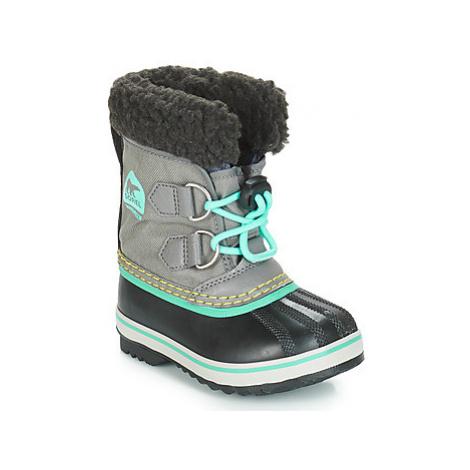 Sorel CHILDRENS YOOT PAC™ NYLON girls's Children's Snow boots in Grey