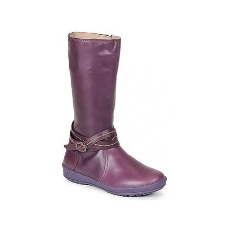 Garvalin TARDA girls's Children's High Boots in Purple Garvalín