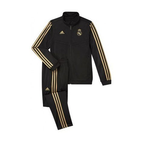 Real Madrid Training PES Tracksuit - Black - Kids Adidas