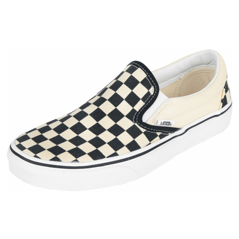 Vans - Classic Slip On Checkerboard - Sneakers - black-old white