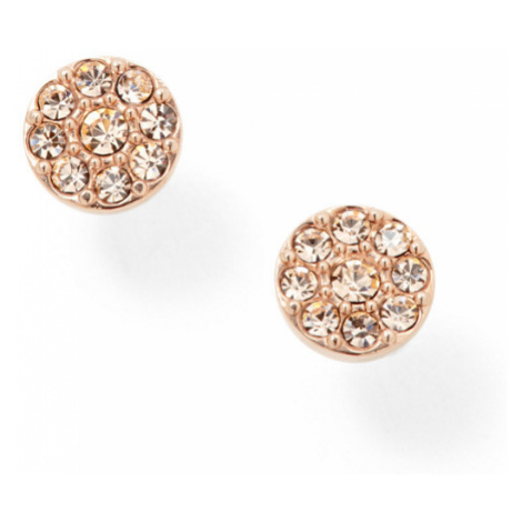 Fossil Women Disc Rose-Tone Studs Gold - One size
