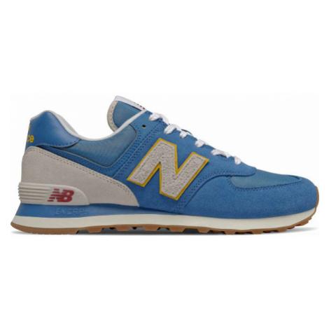 New Balance ML574SCA blue - Men's leisure footwear