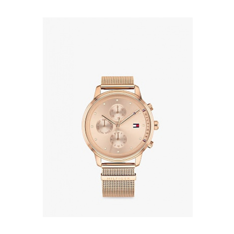 Tommy Hilfiger 1781907 Women's Chronograph Mesh Bracelet Strap Watch, Rose Gold