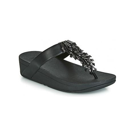 FitFlop JIVE TREASURE women's Flip flops / Sandals (Shoes) in Black